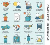 vector set of icons related to... | Shutterstock .eps vector #318543980
