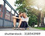 man caressing woman in a...   Shutterstock . vector #318543989