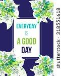 green watercolor splash...   Shutterstock .eps vector #318551618