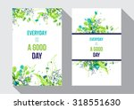 green watercolor splash... | Shutterstock .eps vector #318551630