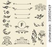 set of vintage decorations...   Shutterstock .eps vector #318552419