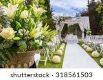 decorations for the wedding... | Shutterstock . vector #318561503