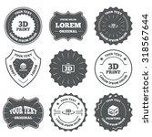 vintage emblems  labels. 3d... | Shutterstock .eps vector #318567644