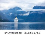 cruise ship  cruise liners on... | Shutterstock . vector #318581768