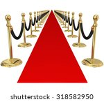 red carpet and line of gold... | Shutterstock . vector #318582950