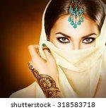 Beautiful Arabian Girl Portrai...