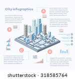 city infographics consisting of ... | Shutterstock .eps vector #318585764