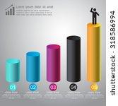 abstract 3d digital vector... | Shutterstock .eps vector #318586994