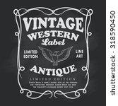 western hand drawn frame label...   Shutterstock .eps vector #318590450