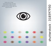 eye icon. vector | Shutterstock .eps vector #318597950