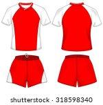 rugby  football uniform | Shutterstock .eps vector #318598340
