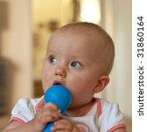 portrait of cute little... | Shutterstock . vector #31860164