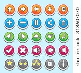 button for asset games | Shutterstock .eps vector #318607070
