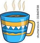 hot coffee vector illustration | Shutterstock .eps vector #31860938