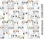 meerkat seamless pattern | Shutterstock .eps vector #318611069