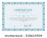 vintage certificate. award... | Shutterstock .eps vector #318614504