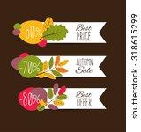 autumn sale. vector...   Shutterstock .eps vector #318615299