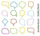 speech bubble set | Shutterstock .eps vector #318615614