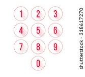 illustration of numbers in...
