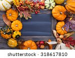 pumpkins and variety of squash... | Shutterstock . vector #318617810