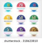 vector set of anniversary signs ... | Shutterstock .eps vector #318623810