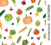 seamless flat vegetable... | Shutterstock .eps vector #318628868