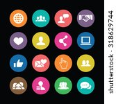 social media icons universal... | Shutterstock . vector #318629744
