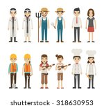 set of profession characters  ...   Shutterstock .eps vector #318630953