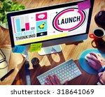 launch new business... | Shutterstock . vector #318641069