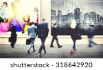 business people walking... | Shutterstock . vector #318642920