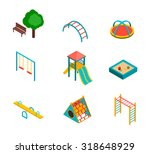 isometric kids playground icons ... | Shutterstock .eps vector #318648929