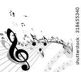 Musical Background.  Raster...