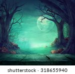 halloween background. spooky... | Shutterstock . vector #318655940