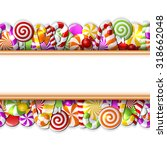 sweet banner with colorful... | Shutterstock .eps vector #318662048