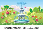 beautiful summer landscape with ... | Shutterstock .eps vector #318662300