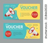 gift voucher template. the... | Shutterstock .eps vector #318663020