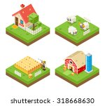 farm life isometric 3d icon... | Shutterstock .eps vector #318668630