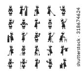 set of maid    human pictogram... | Shutterstock .eps vector #318674624