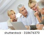 group of retired senior people...   Shutterstock . vector #318676370