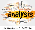 word cloud with analysis... | Shutterstock .eps vector #318679214
