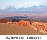 sand and volcanoes at atacama... | Shutterstock . vector #31868519
