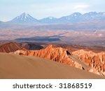 sand and volcanoes at atacama... | Shutterstock . vector #31868519