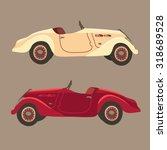 nice retro red and white race...   Shutterstock .eps vector #318689528