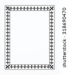 decorative frame   illustration | Shutterstock .eps vector #318690470