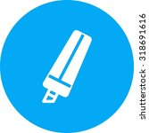 marker  hand  highlighter icon... | Shutterstock .eps vector #318691616