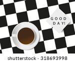 coffee. a cup from coffee on a... | Shutterstock .eps vector #318693998