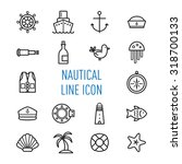 set of nautical line icon... | Shutterstock .eps vector #318700133
