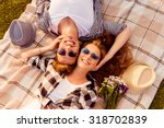 top view of a couple in love... | Shutterstock . vector #318702839