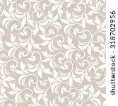 seamless damask pattern in beige   Shutterstock .eps vector #318702956