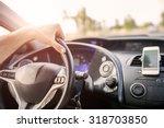 close up of a car dashboard... | Shutterstock . vector #318703850